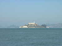 A view of Alcatraz from San Francisco Fishermans Warf 2001